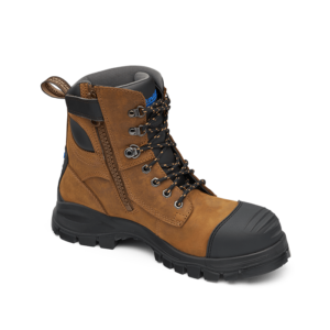 Blundstone Crazy Horse premium water resistant lace up/zip ankle safety boot