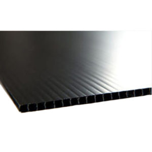corflute sheets in black