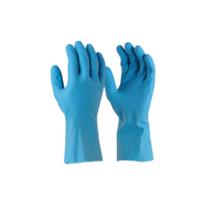 MAXISAFE BLUE LATEX SILVERLINED GLOVE 33CM